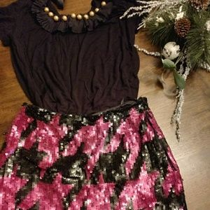 French Connection Sequin Skirt NWOT